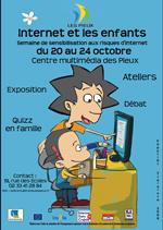 Affiche Internet et les enfants au centre multimedia des pieux du 20 au 24 octobre 2009