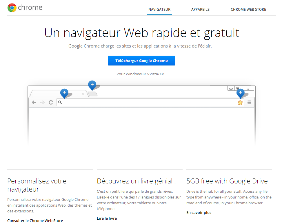 Site web officiel pour télécharger Google Chrome
