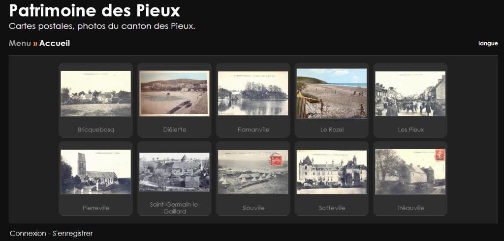 Capture d'écran d'écran du futur site patrimoine.lespieux.fr