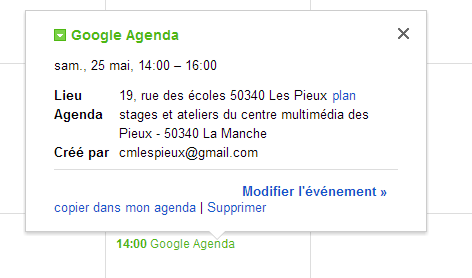 GoogleAgenda