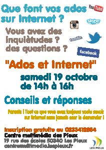 Affiche de l'atelier Ados et Internet