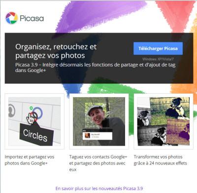 capture d'écran d'illustration pour le stage Picasa