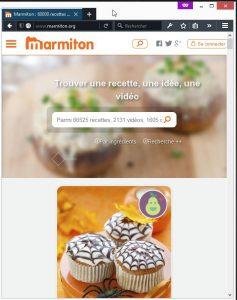 Capture d'écran de marmiton.org