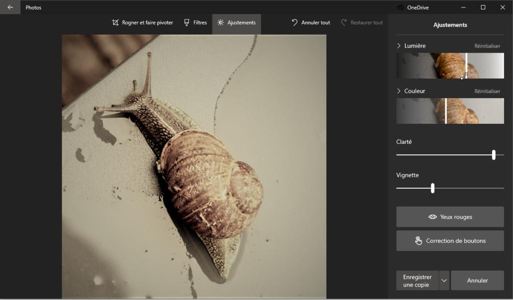 capture d'écran de l'application Photos de Microsoft Windows 10